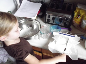 Use shortening instead of butter...butter is made up of 15% water and throws off the balance of moisture in the dough.  See below for more info on this tip!