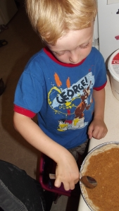 Tip # 8 - You can add a layer of cake/bread crumbs to the bottom of your crust to help soak up fluids. Here we are adding a layer of graham crumbs to hopefully prevent having a soggy bottom.