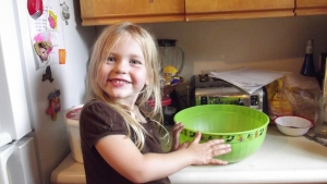 Uh, Oh, impish grin.....she's up to something.....