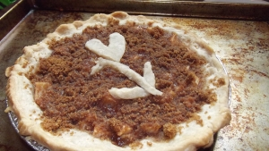 Our test pie, all cooked!